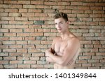 a man with a bare chested torso ... | Shutterstock . vector #1401349844