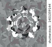 electrocardiogram icon on grey... | Shutterstock .eps vector #1401359144