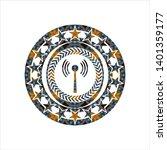 antenna signal icon inside... | Shutterstock .eps vector #1401359177