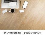 stylish office table desk.... | Shutterstock . vector #1401390404