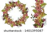 doodle floral garland  floral...   Shutterstock .eps vector #1401395087