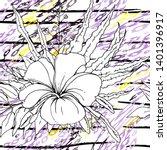 modern stripes jungle motif.... | Shutterstock .eps vector #1401396917