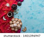ramadan sweets background.... | Shutterstock . vector #1401396947