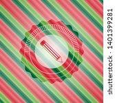 pencil icon inside christmas...   Shutterstock .eps vector #1401399281