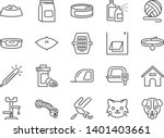 Stock vector petshop line icon set included icons as pet shop pets cat dog vitamin toy and more 1401403661