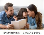 loving young family with little ... | Shutterstock . vector #1401411491