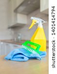 cleaning concept. tool for... | Shutterstock . vector #1401414794