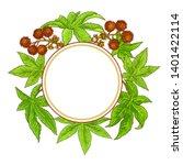 castor vector frame on white...   Shutterstock .eps vector #1401422114