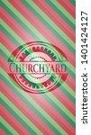 churchyard christmas badge...   Shutterstock .eps vector #1401424127