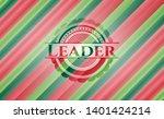 leader christmas badge. vector...   Shutterstock .eps vector #1401424214