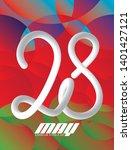 28 may azerbaijan republic day... | Shutterstock .eps vector #1401427121