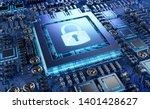 close up view of a modern gpu... | Shutterstock . vector #1401428627