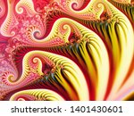 Abstract fractal background Fairy Infinite Spirals computer-generated image. Beautiful abstract background for wallpaper. Fractal digital artwork for creative graphic design.