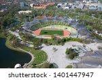 munich   germany april 20  2019 ... | Shutterstock . vector #1401447947