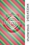 ultrasound christmas badge...   Shutterstock .eps vector #1401453344