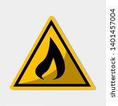 flammable sign for danger... | Shutterstock .eps vector #1401457004