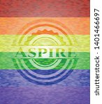 aspire on mosaic background... | Shutterstock .eps vector #1401466697