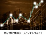 abstract financial trading... | Shutterstock . vector #1401476144