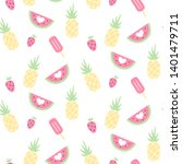 vector seamless pattern with... | Shutterstock .eps vector #1401479711