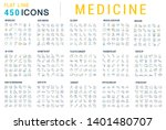 collection of line icons of... | Shutterstock . vector #1401480707