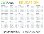 collection of line icons of... | Shutterstock . vector #1401480734