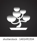 bonsai icon on background for... | Shutterstock . vector #1401491534