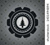 christmas tree icon inside...   Shutterstock .eps vector #1401494894
