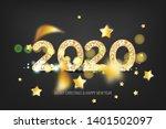 2020 vector magic golden...   Shutterstock .eps vector #1401502097