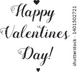 happy valentine's day lettering....   Shutterstock .eps vector #1401502721