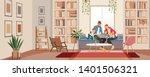 big family father mother and... | Shutterstock .eps vector #1401506321