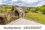 View Over The Melrose Abbey In...