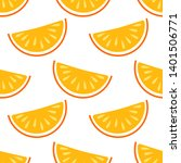 orange fruit vector seamless... | Shutterstock .eps vector #1401506771