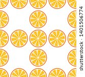 orange fruit vector seamless... | Shutterstock .eps vector #1401506774