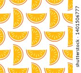 orange fruit vector seamless... | Shutterstock .eps vector #1401506777