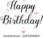 happy birthday lettering. hand...   Shutterstock .eps vector #1401506804