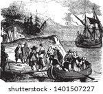 landing of the walloons...   Shutterstock .eps vector #1401507227
