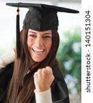Portrait Of Happy Graduate...