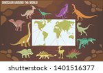 vector illustration of dinosaur ... | Shutterstock .eps vector #1401516377