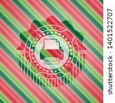 printer icon inside christmas...   Shutterstock .eps vector #1401522707
