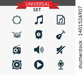 multimedia icons set with...   Shutterstock . vector #1401526907