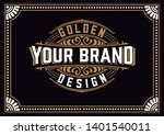 vintage logo with floral... | Shutterstock .eps vector #1401540011