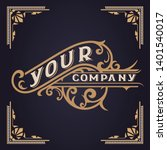 vintage logo template. vector...   Shutterstock .eps vector #1401540017