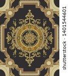 golden elements in baroque ... | Shutterstock . vector #1401544601