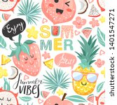 creative summer collage.... | Shutterstock .eps vector #1401547271