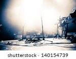 empty illuminated stage with... | Shutterstock . vector #140154739