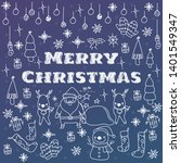 christmas doodle  greeting...   Shutterstock .eps vector #1401549347