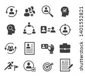 headhunting vector icons set.... | Shutterstock .eps vector #1401552821