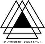linked triangles. abstract... | Shutterstock .eps vector #1401557474