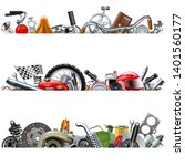 vector spare parts borders... | Shutterstock .eps vector #1401560177