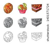 vector design of confectionery... | Shutterstock .eps vector #1401571724